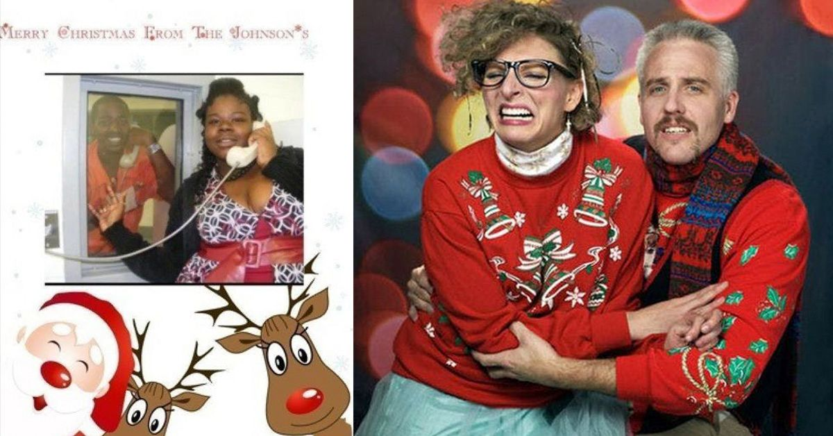 Uncomfortable Couples Christmas Cards That Have Anything But Chemistry