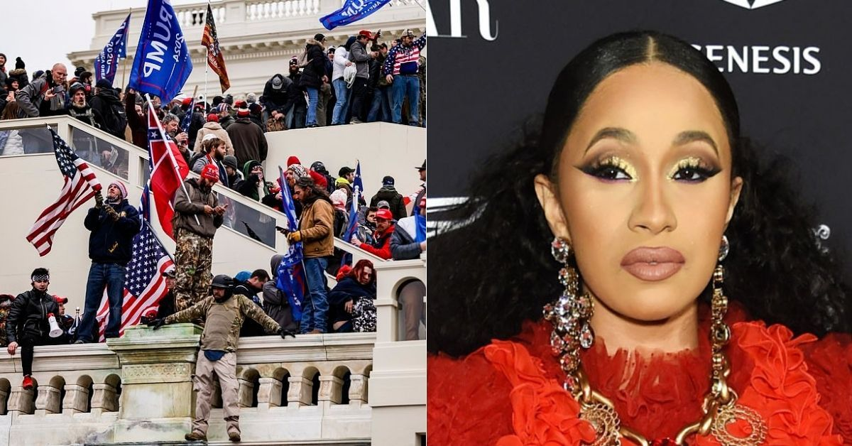 Cardi B Leads Celeb Anger As Trump Supporters Storm Capitol Building