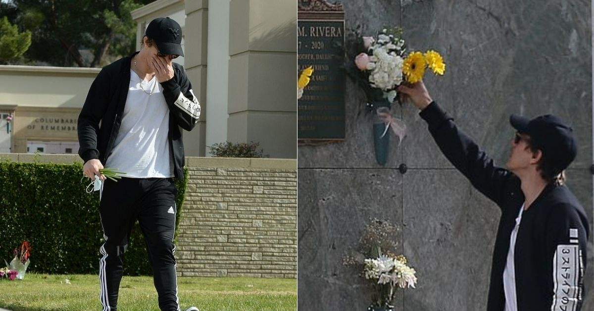 Ryan Dorsey Accused Of 'Setting Up Pap Shots' As He Visits Naya Rivera's Grave