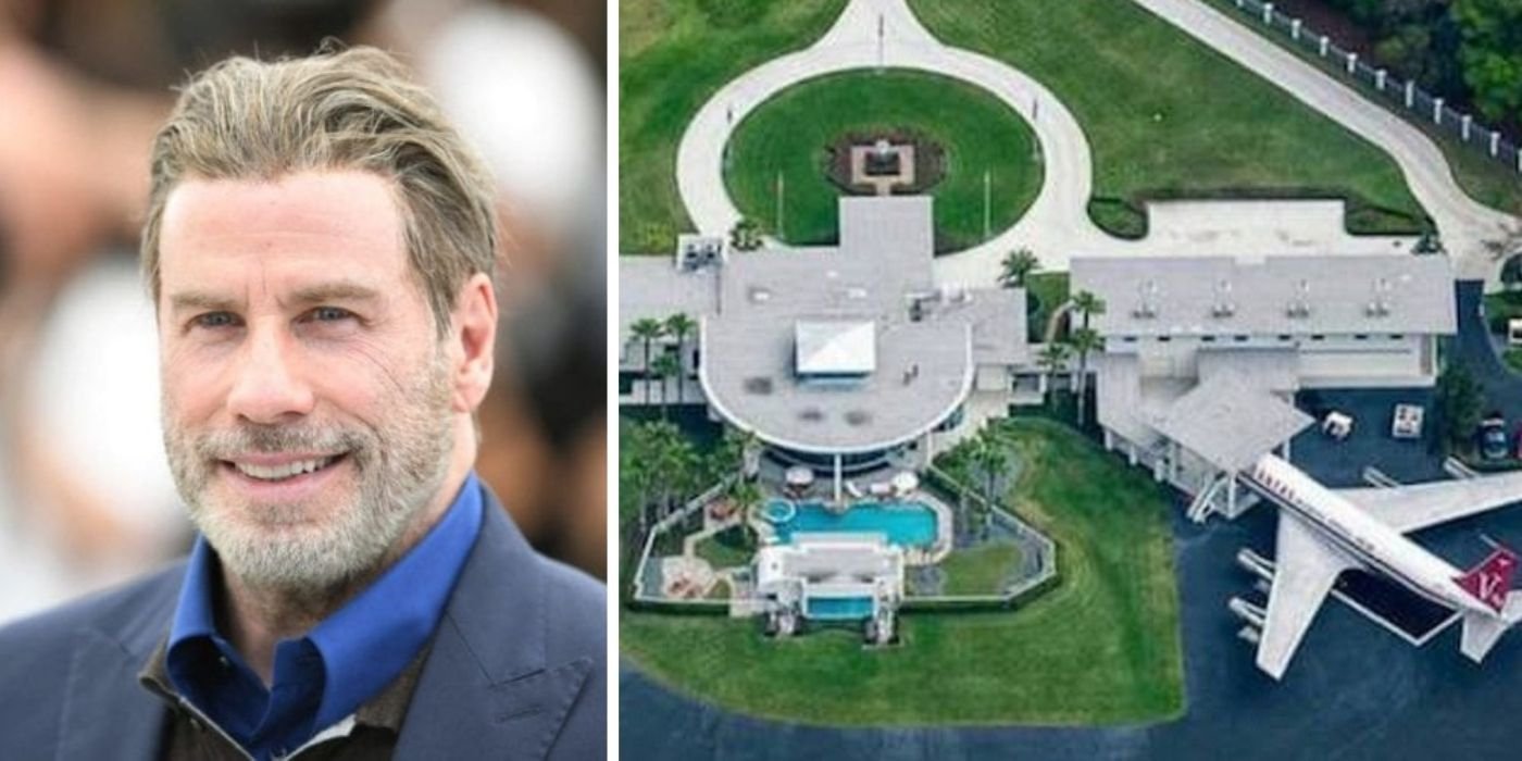 John Travolta & 9 Other Celebs With The Most Unique Homes