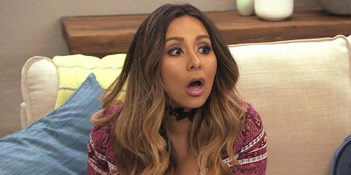 Snooki Hides A Bottle Of Wine During Her Virtual Press Day